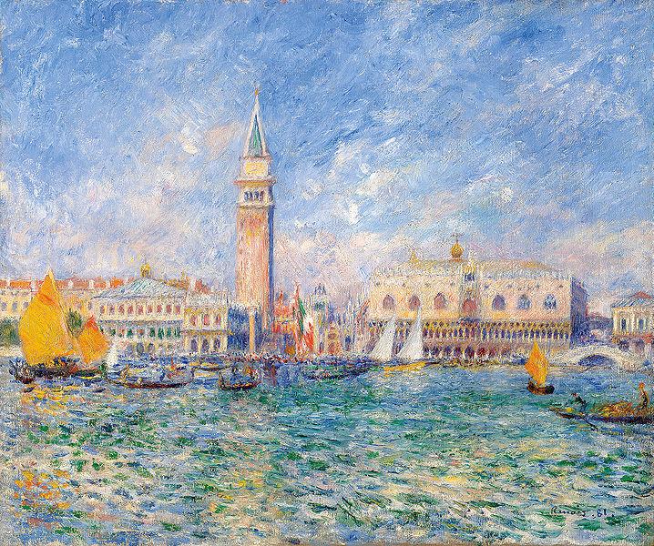 718px-Pierre_Auguste_Renoir_Vue_de_Venise_Le_Palais_des_Doges_1881 couleurs pastels