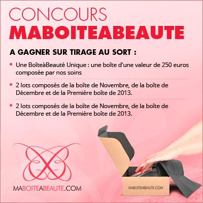 Flash Info : Grand concours Ma Boite à Beauté !! Simple et rapide, de nombreux lots à gagner... dans Découvertes concours-ma-boite-a-beaute