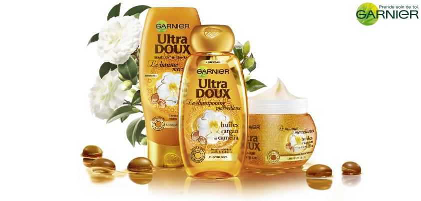 Nouveautés Garnier Ultra DOUX : le Shampoing et le Baume Merveilleux ! dans Coiffures garnier-ultra-doux-shampoing-merveilleux-et-baume-merveilleux